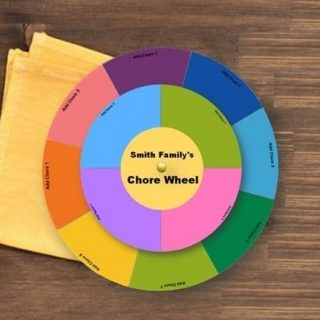 How to Make a Chore Wheel