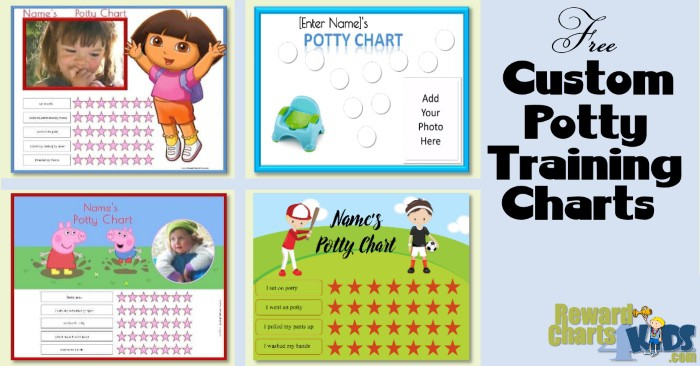 4 examples of potty training chart printables from the site