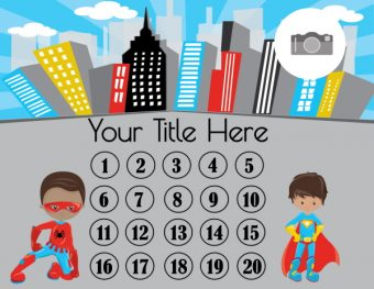 Superhero printable