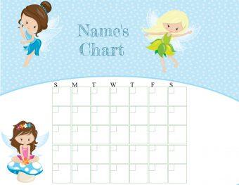fairy sticker chart