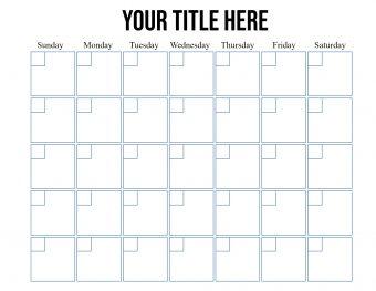 Monthly behavior chart calendar