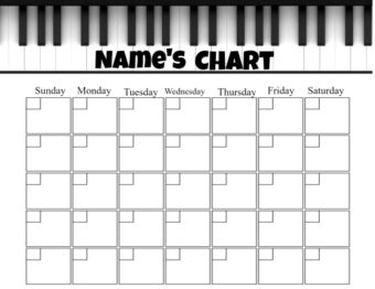 Monthly piano chart