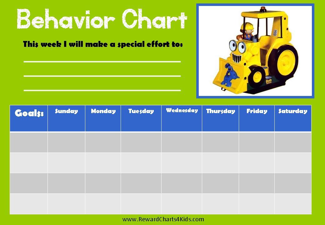 bob the builder behavior charts. Black Bedroom Furniture Sets. Home Design Ideas