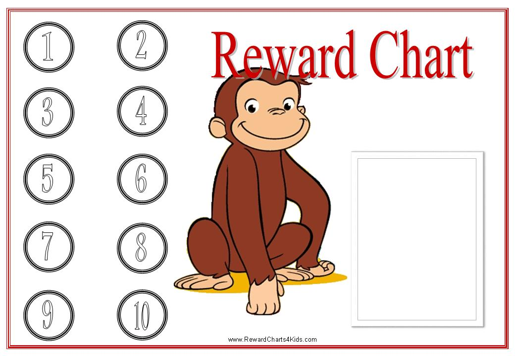 Reward Charts Template. Curious George Charts