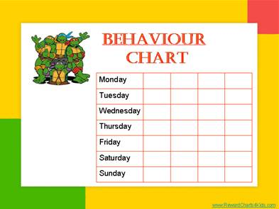 free printable behavior reward charts