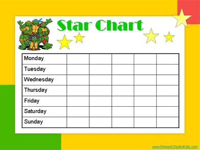 picture about Star Reward Chart Printable referred to as Star Charts for Youngsters